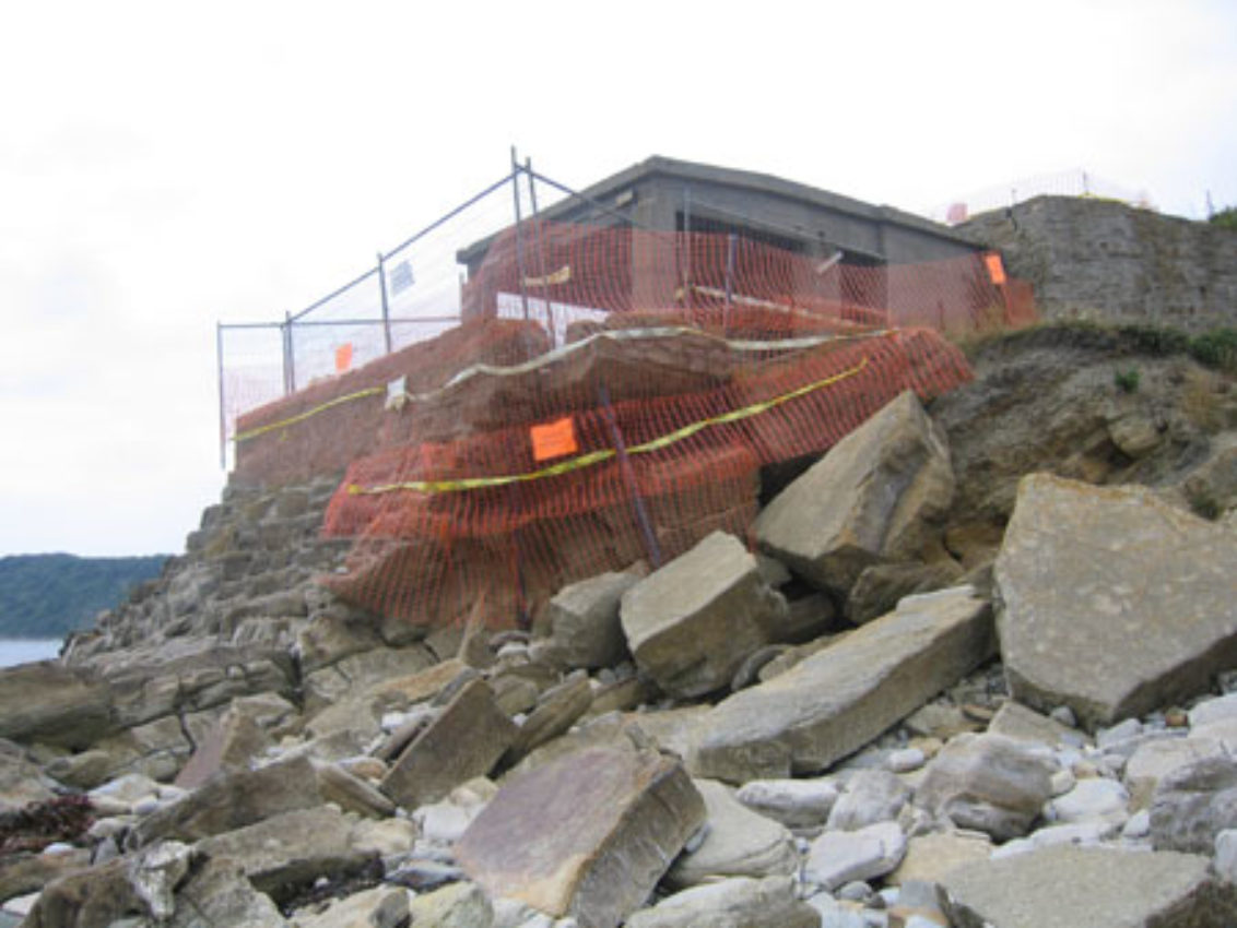 World war two lookout at Peveril Point