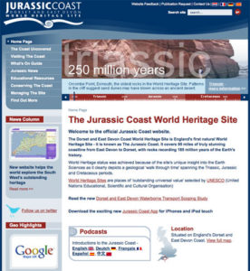 Jurassic Coast website