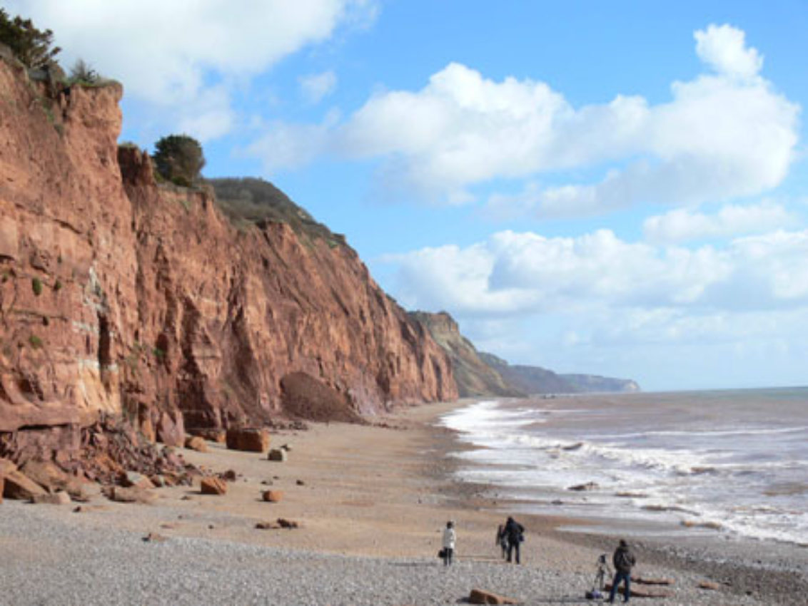 Sidmouth cliff fall.