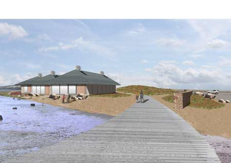 Heritage lottery funding assisted the building of the Chesil Boardwalk.