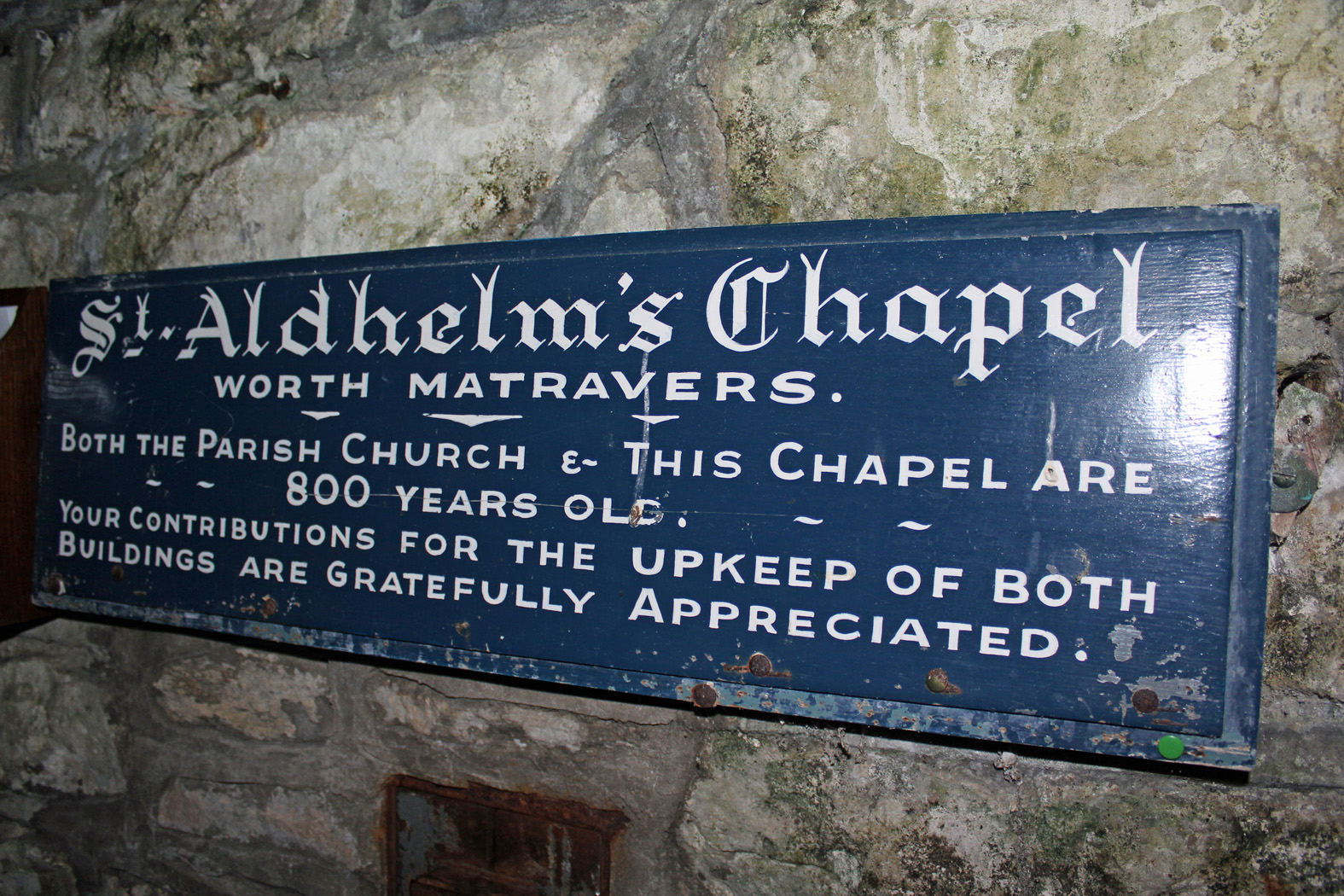 The chapel has a history dating back 800 years...
