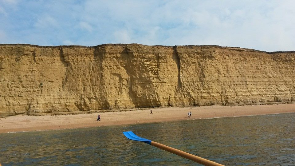 East Cliff from the sea