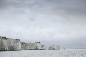 Old Harry Rocks from the sea