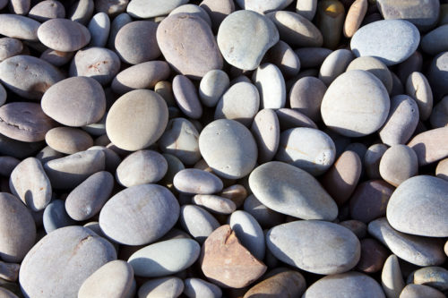 The famous Budleigh Salterton pebbles