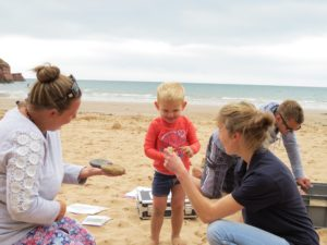 Jurassic Coast Trust volunteers on the beach
