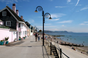 The promenade at Lyme Regis