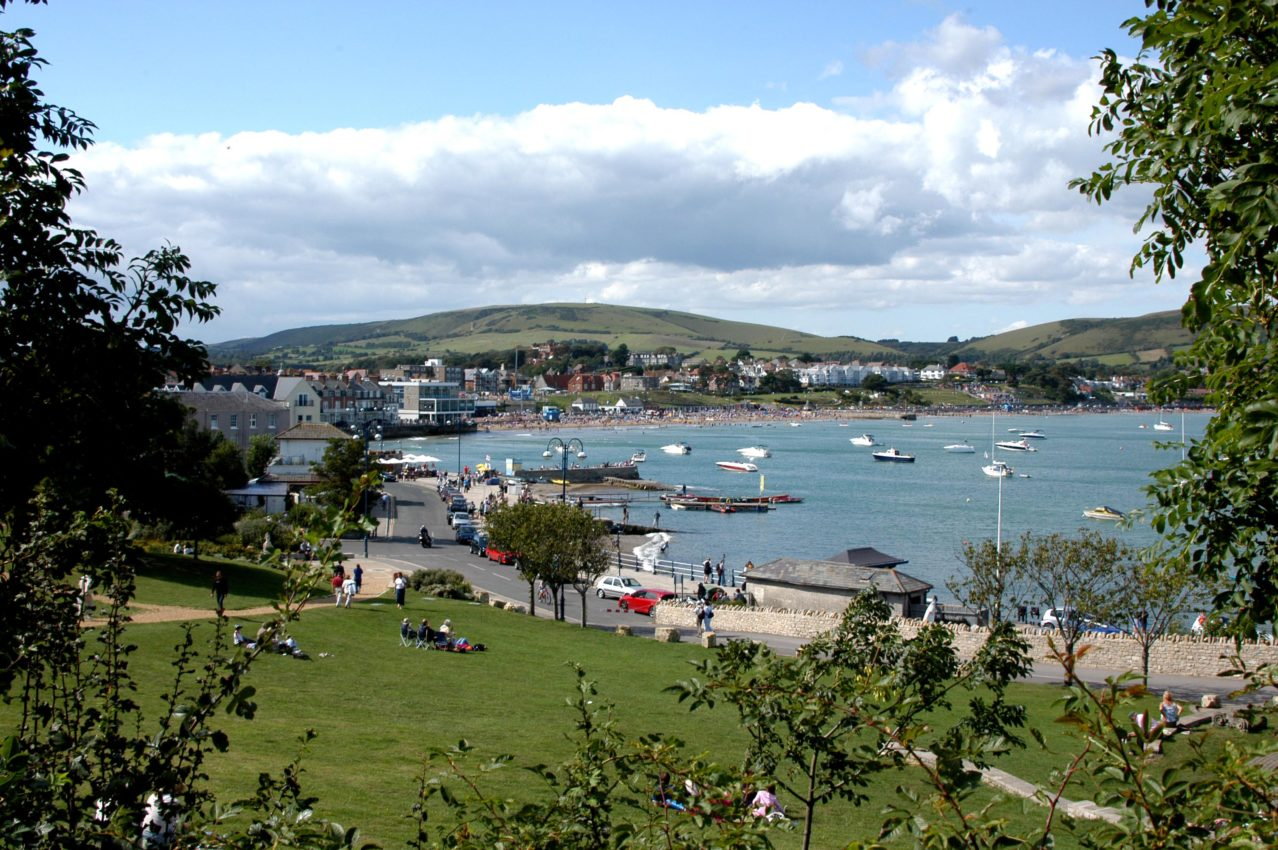The view across Swanage Bay. Photo M Simons DCC