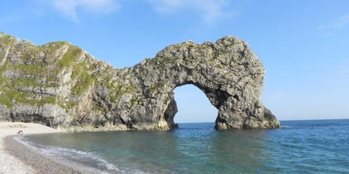 The unmistakable limestone arch of Durdle Door