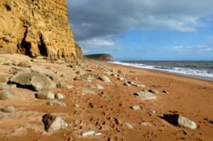 The beach at West Bay