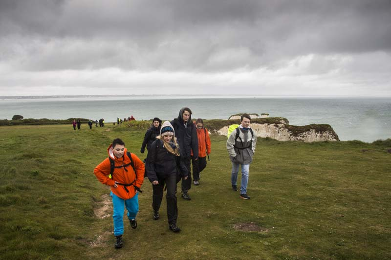 The walk from Old Harry Rocks