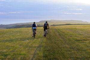 Cycling the Jurassic Coast above Abbotsbury