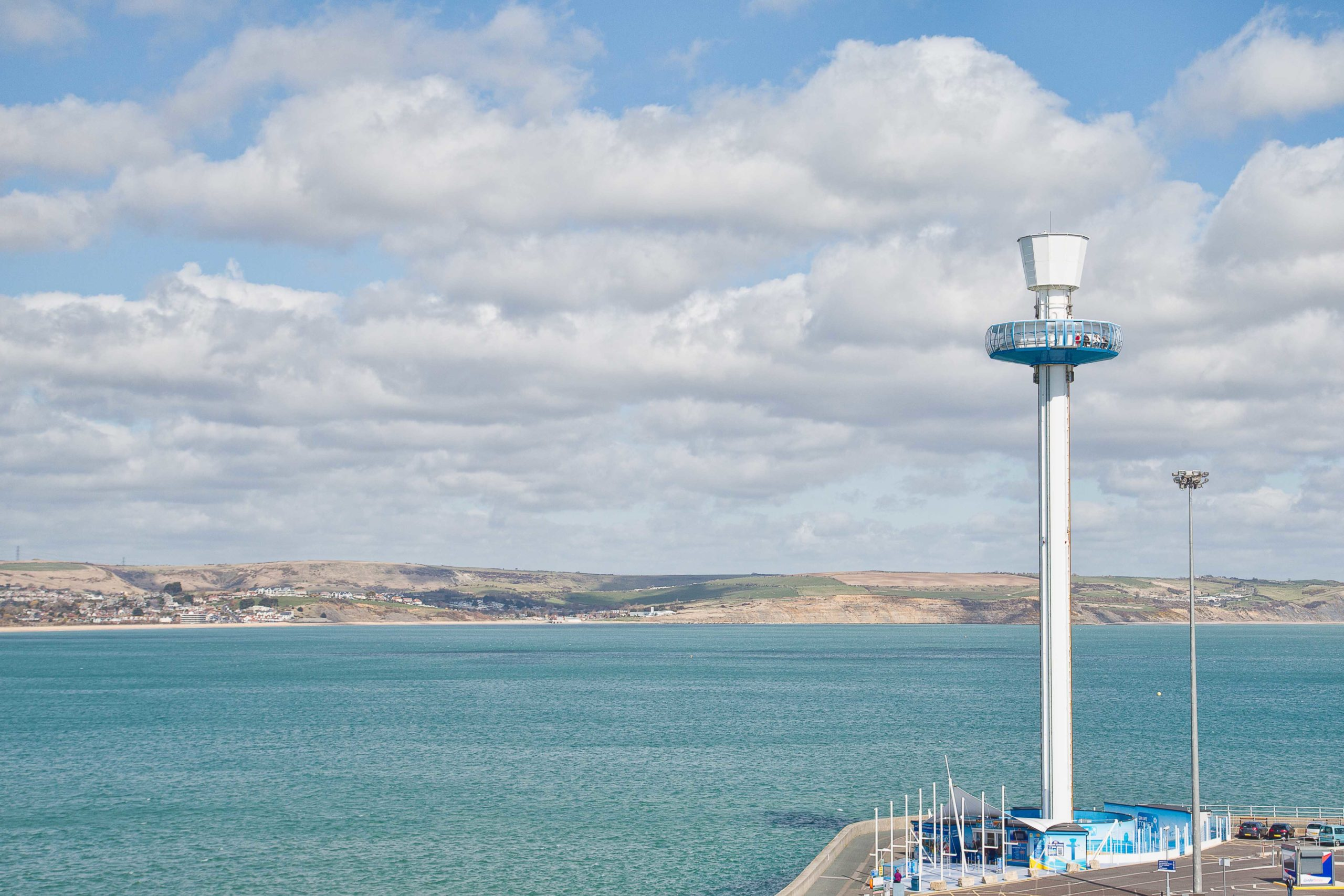 The Jurassic Skyline tower is the tallest structure on the Jurassic Coast