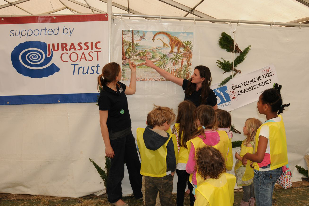 Work experience student Mareike Dages helping out at the Fossil Festival