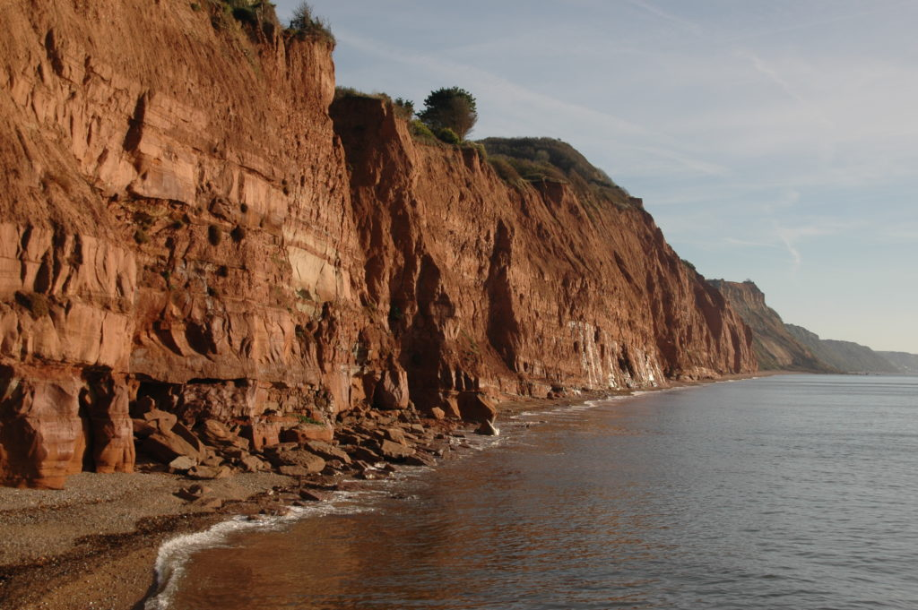 Weekly 90-minute geology walks, taking in Sidmouth's spectacular Triassic cliffs with local experts