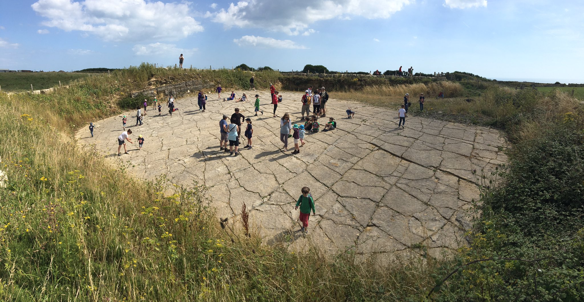 dinosaur footprints walks keates quarry