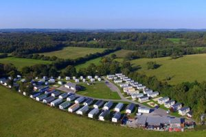 Sandyholme Holiday Park. Aerial view.