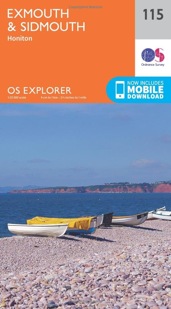 Ordnance Survey Map Exmouth and Sidmouth 115