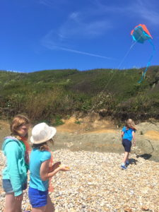 Kite Flying at beach school