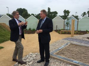 Heritage and Tourism Minister David Evennett visits Seaton Jurassic
