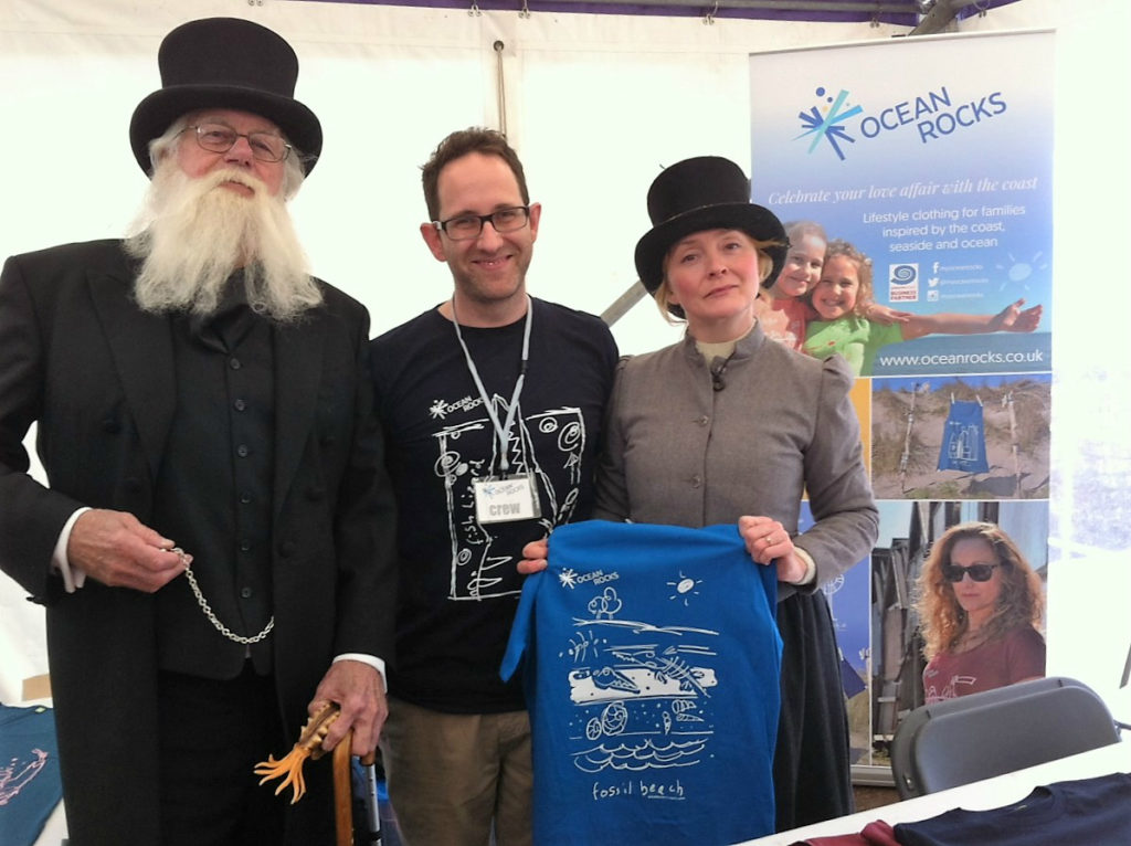 OCEANROCKS at the Lyme Regis Fossil Festival Charles Darwin and Mary Anning