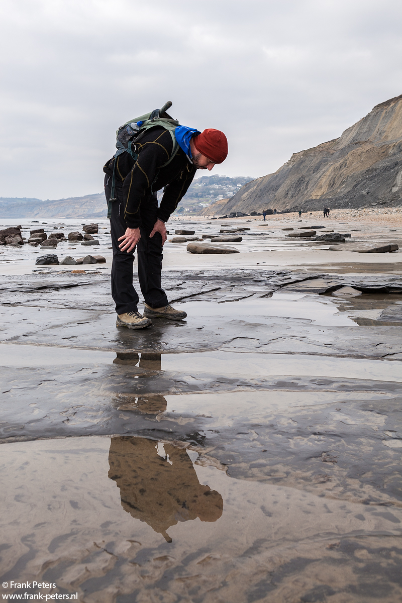 Fossil hunting in Charmouth and hill climbing on Golden Cap
