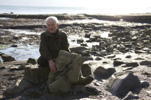 Steve Etches on Kimmeridge Beach