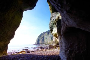 Beer Beach from Cave