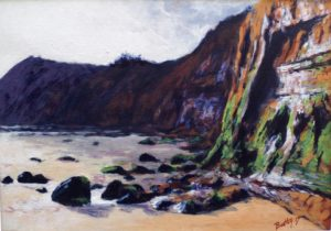 Sidmouth Beach painting