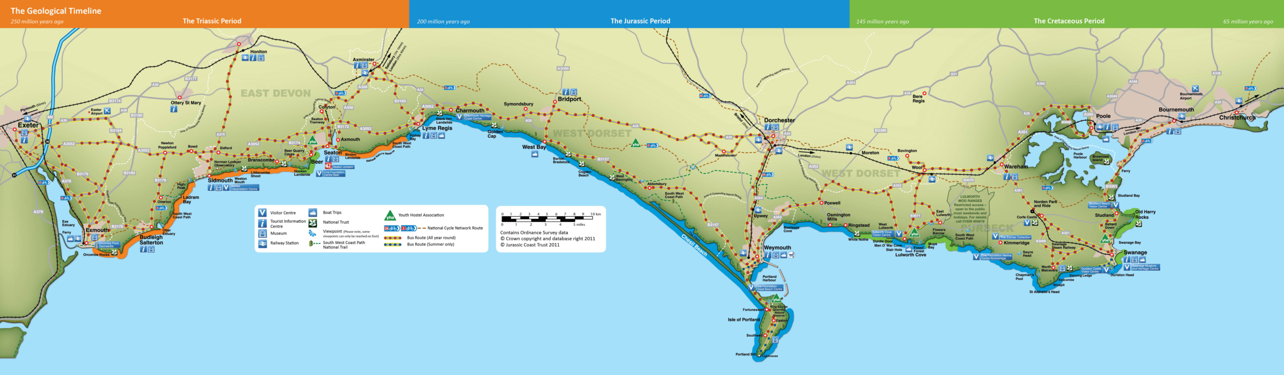 Jurassic Coast Map - Jurassic Coast World Heritage Site