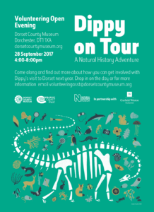 Dippy on Tour Volunteering Open Evening Poster