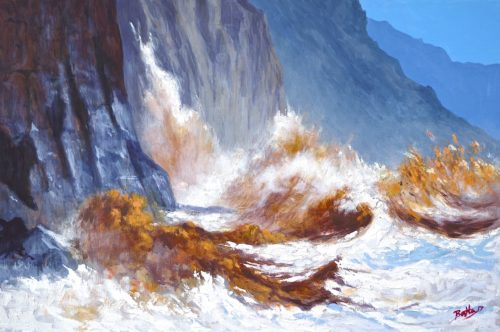 colin bentley waves crashing sidmouth