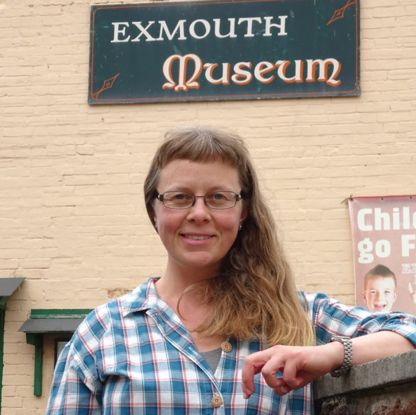 sarah at the exmouth museum
