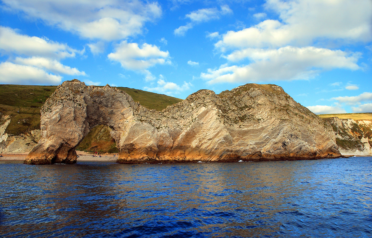 Durdle Door from offshore & Durdle Door - Jurassic Coast World Heritage Site