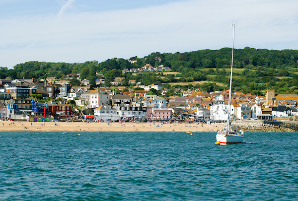Lyme Regis as seen from the sea