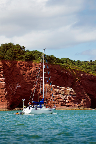 yacht Kyra off Exmouth