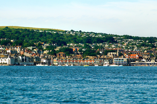 Swanage from sea