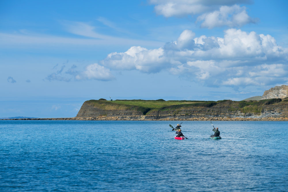 Kayaking in Kimmeridge Bay