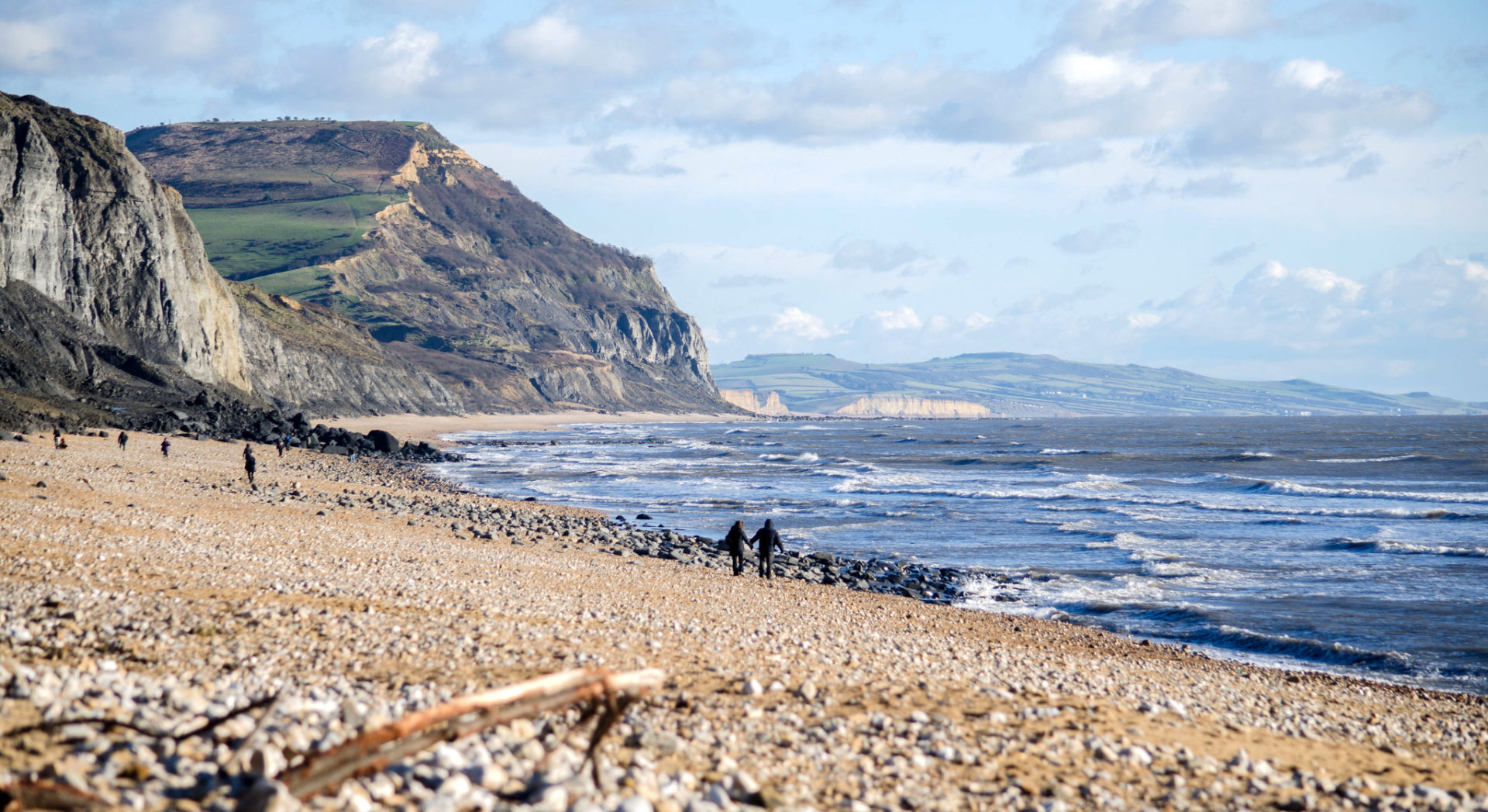 Charmouth Beach and Cliffs - Alison Day