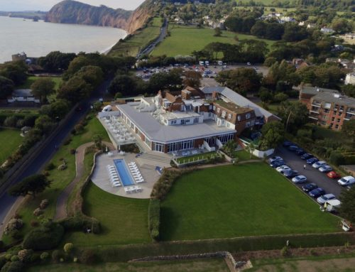 sidmouth harbour hotel aerial