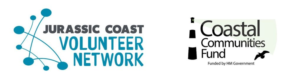 jurassic coast volunteer network logo composite