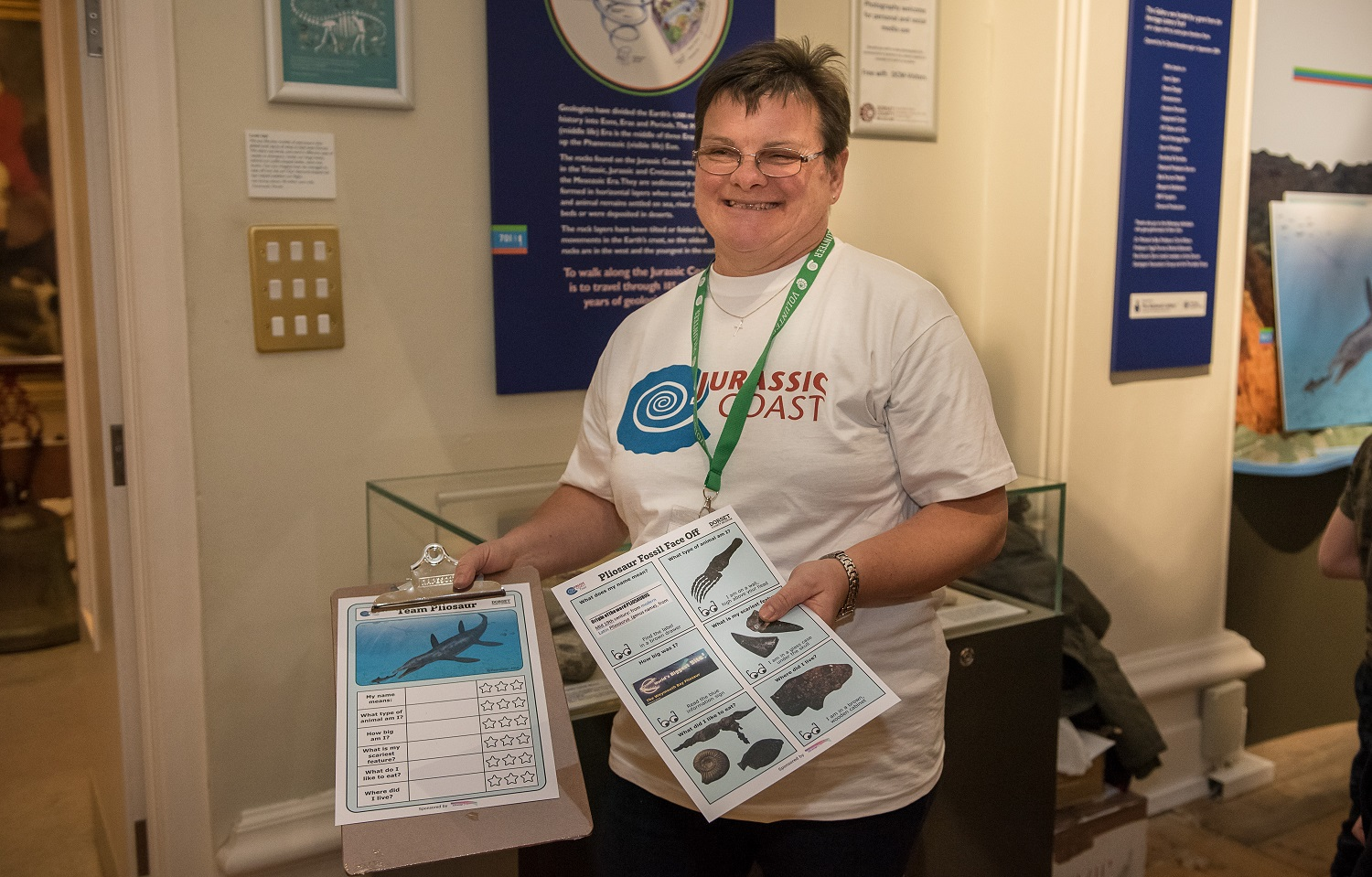 Helen Lowe - Dippy volunteering