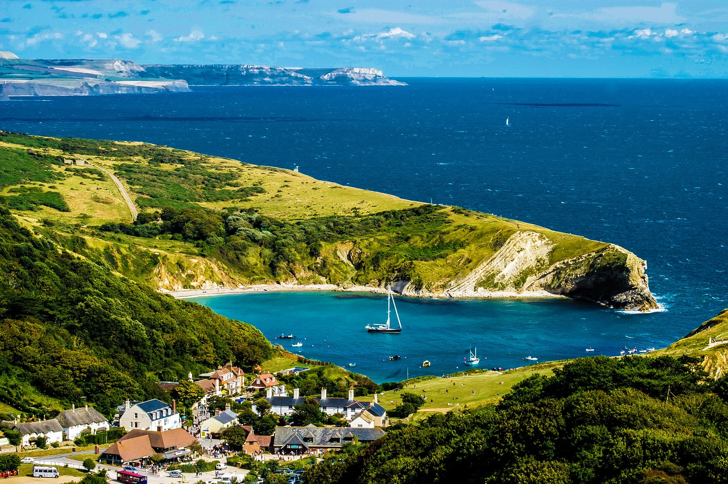 Lulworth Cove from above - Phil Dolby