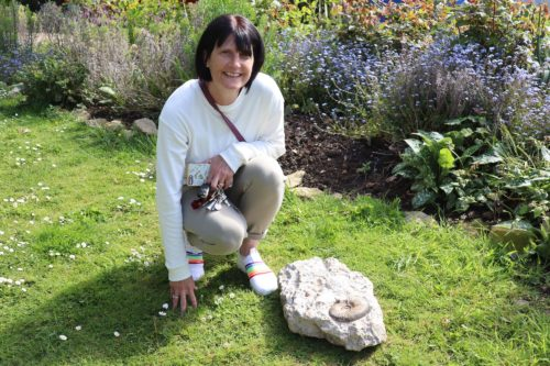Julie Brinkley with Jurassic Coast Fossil Prize
