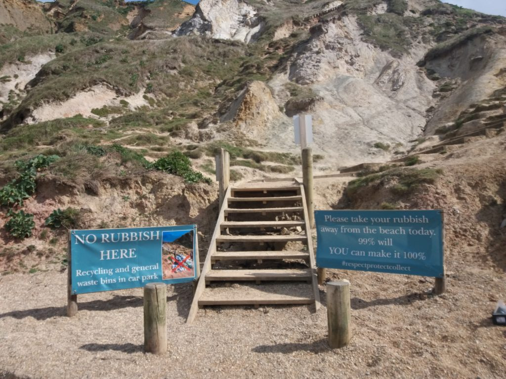 lulworth durdle door Banners at the beach