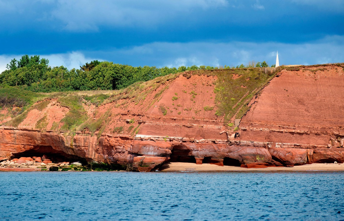 Orcombe Point and the Geoneedle, Exmouth, East Devon