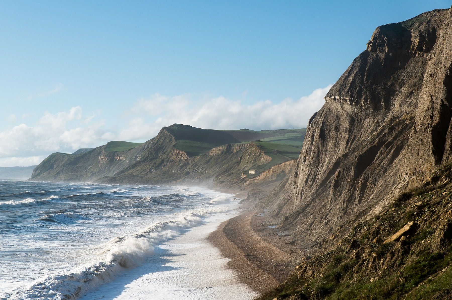 Eype beach from West Bay