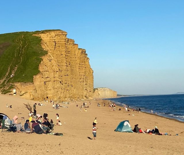 So good to see so many families enjoying the late evening sun at West Bay. If you are on the Jurassic Coast this half term please tag #myjurassiccoast and let us know where you are and what you are loving!