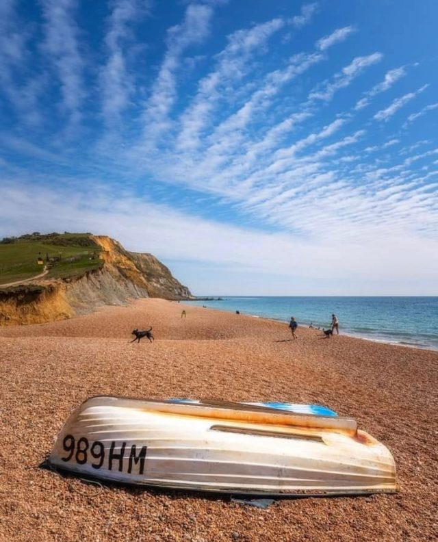 """My Jurassic Coast by Sarah of @seasidesaunahaus which you may have seen parked up overlooking Seatown beach.  """"I'm a keen sea swimmer and I enjoy the benefits that sea swimming in whatever season brings me. It energises me and makes me feel alive, when sometimes I may be feeling sluggish and lethargic. Being by the sea helps me to gain perspective when life feels a bit overwhelming – it is ever-changing and constant.  Seaside Sauna Haus was my idea to create a hub on Seatown beach for people to focus on their own wellbeing and health, whatever the weather. It will come into its own in winter too, keeping us connected to our landscape and reaping the health benefits of time in nature. The sauna is a chance to reconnect with ourselves, our surroundings, as well as others.   Being on the Jurassic Coast, listening to the waves and people enjoying the beach, there was nowhere else I would rather be to let all the stress wash away.""""  #myjurassiccoast  First photo of beach by @jamesloveridgephotography 4th photo @timboothphotography"""