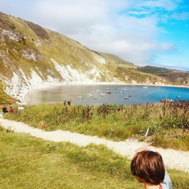 """My Jurassic Coast by @ecodesignfairuk.  On a recent birthday trip with the family…..  """"The children loved finding two fossil teeth and researching who they may have belonged to - turns out they could have belonged to an enchodus fish. We loved splashing in the waves until blue with cold.""""  #myjurassiccoast"""