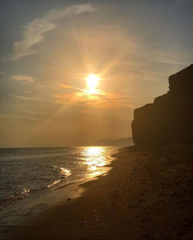 """My Jurassic Coast from @dorsetdom.  """"Although this incredible coastline is five minutes from my front door - every time I step foot on it it clears the mind and feels like I'm 500 miles from everyday life.   Come sunshine and sunsets, storms or snow - this is my little corner of escapism and I appreciate how lucky I am to live here"""".  #myjurassiccoast"""